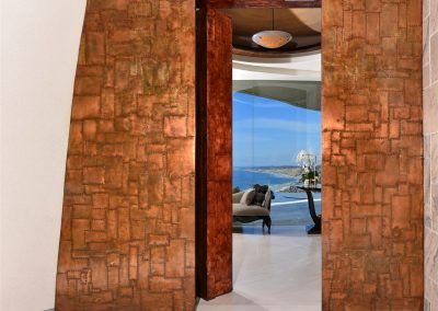 Copper Wall and Doorway - 7455 Hillside Drive