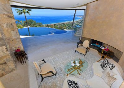 Living Area with Ocean View - 7455 Hillside Drive